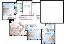 Traditional Floor Plan - Lower Floor Plan Plan #23-850