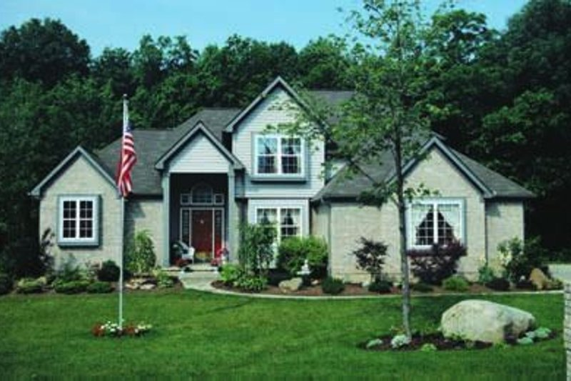 Home Plan Design - Traditional Exterior - Front Elevation Plan #20-864