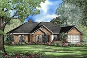 Traditional Style House Plan - 4 Beds 2.5 Baths 2107 Sq/Ft Plan #17-148 Exterior - Front Elevation