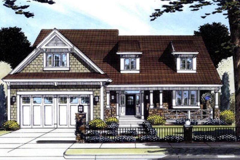 Craftsman Exterior - Front Elevation Plan #46-381