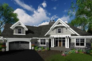 Craftsman Exterior - Front Elevation Plan #51-573