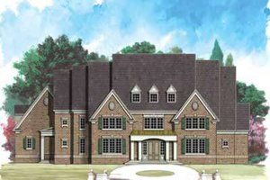 European Exterior - Front Elevation Plan #119-213