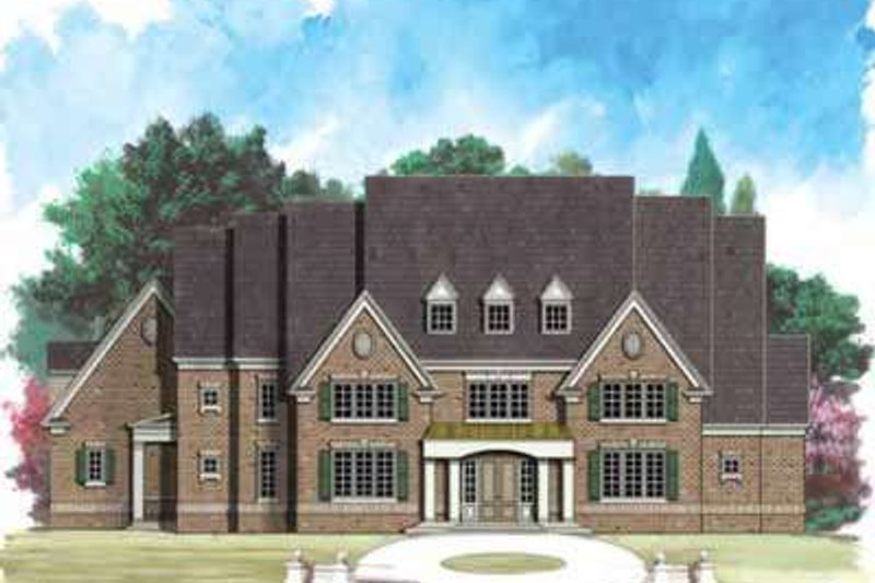 European Style House Plan - 4 Beds 4 Baths 5290 Sq/Ft Plan #119-213 Exterior - Front Elevation