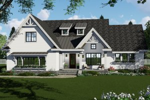 Dream House Plan - Farmhouse Exterior - Front Elevation Plan #51-1142