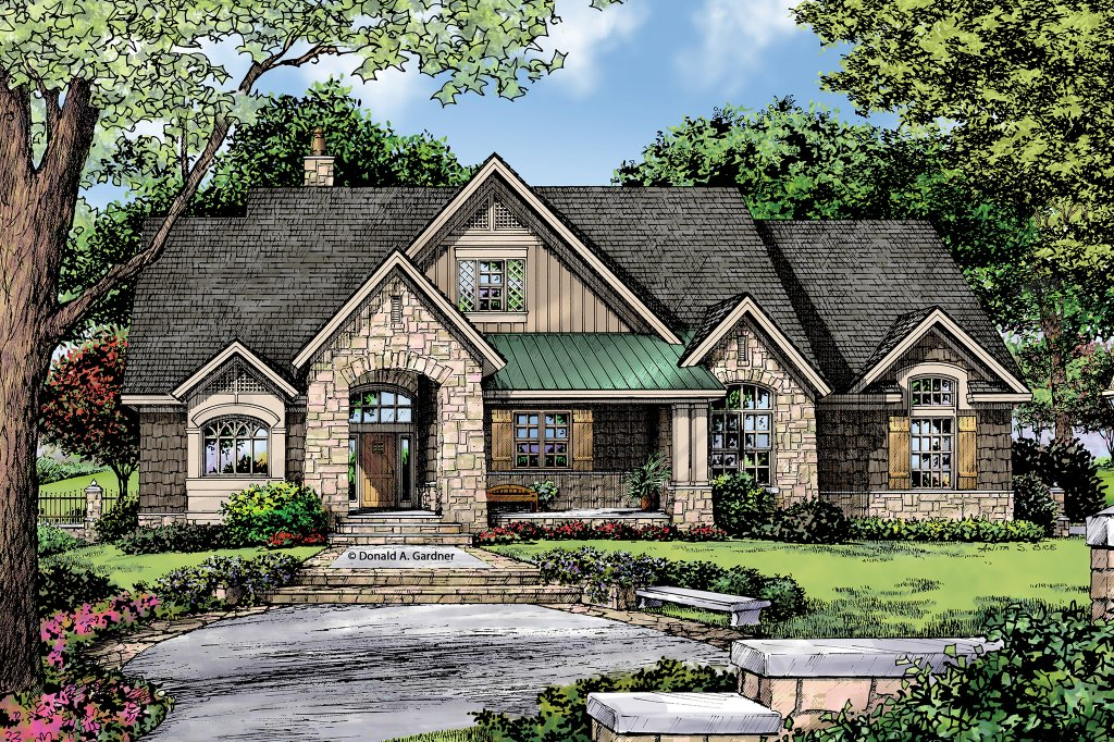 Craftsman style house plan 3 beds 2 baths 2004 sq ft for Craftsman vs mission style