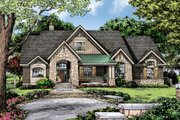 Craftsman Style House Plan - 3 Beds 2 Baths 2004 Sq/Ft Plan #929-14 Exterior - Front Elevation