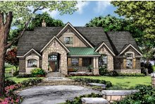 Craftsman Exterior - Front Elevation Plan #929-14