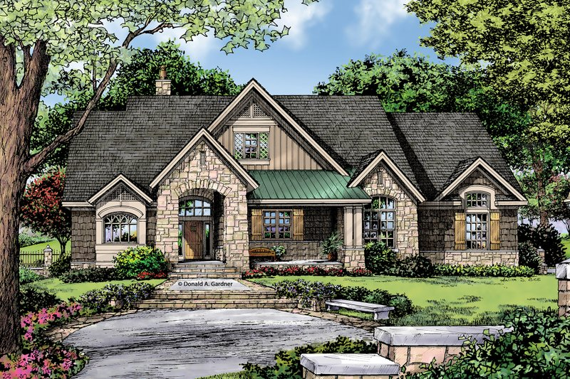 Craftsman Exterior - Front Elevation Plan #929-14 - Houseplans.com