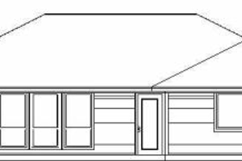 Traditional Exterior - Rear Elevation Plan #84-118 - Houseplans.com