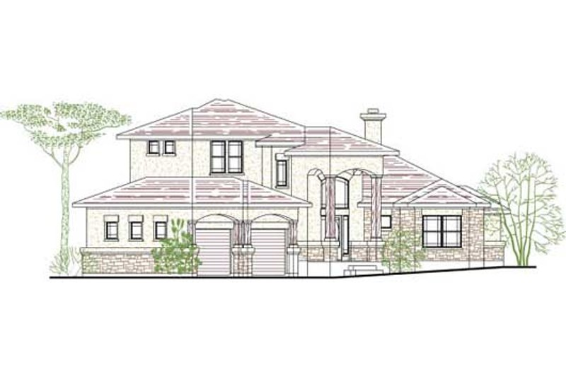 Traditional Style House Plan - 4 Beds 3.5 Baths 2713 Sq/Ft Plan #80-170 Exterior - Front Elevation