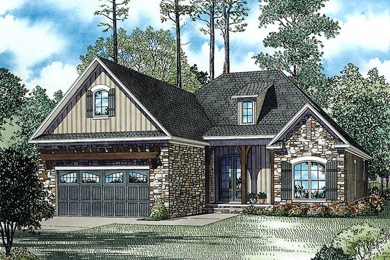 European Exterior - Front Elevation Plan #17-2483