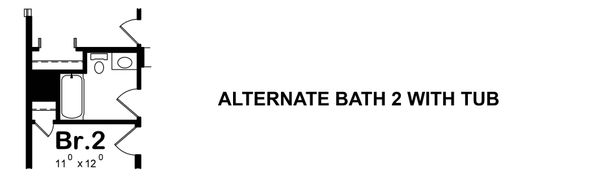 Alternate Bath 2 w/ tub