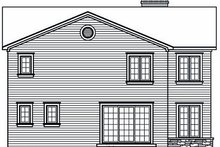 House Plan Design - European Exterior - Rear Elevation Plan #23-860
