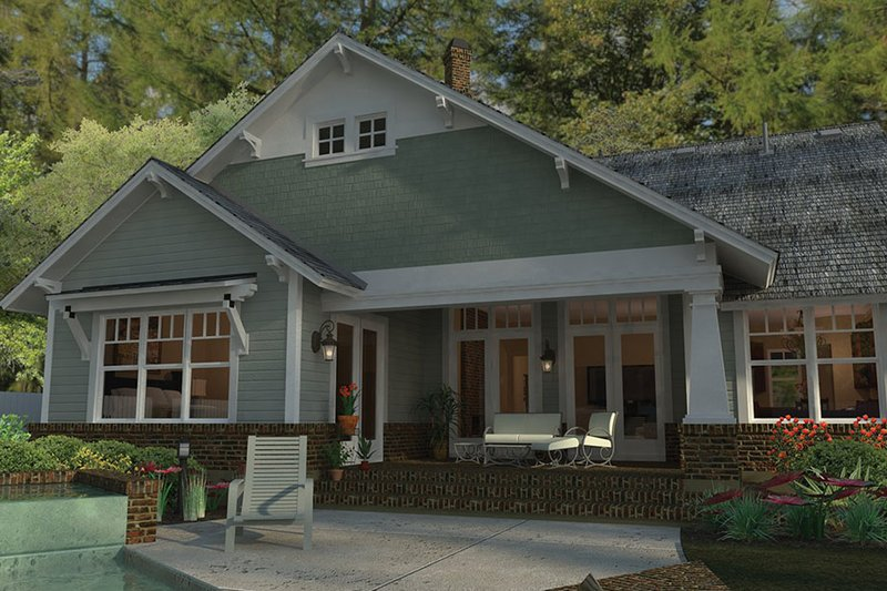 Craftsman Exterior - Rear Elevation Plan #120-249 - Houseplans.com