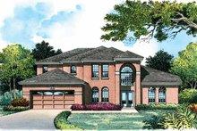 House Plan Design - Mediterranean Exterior - Front Elevation Plan #1015-5