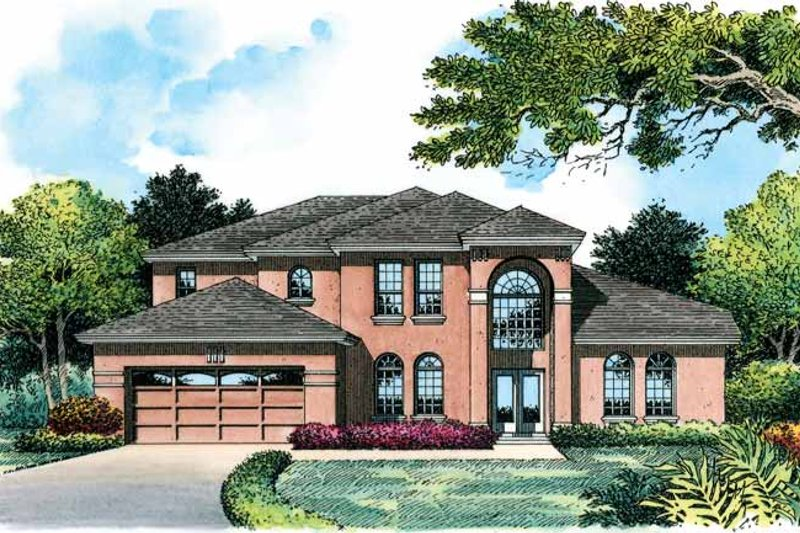 Mediterranean Exterior - Front Elevation Plan #1015-5 - Houseplans.com
