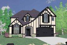 Home Plan Design - Tudor Exterior - Front Elevation Plan #509-353