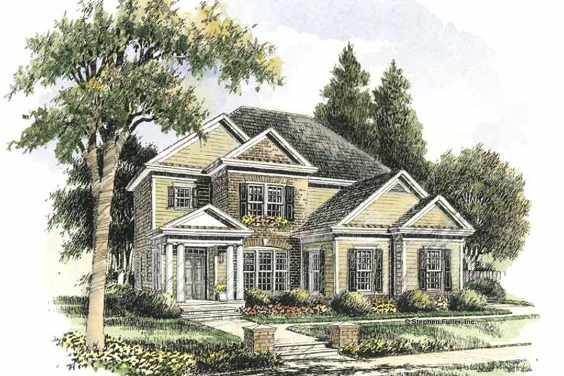 Colonial Exterior - Front Elevation Plan #429-283