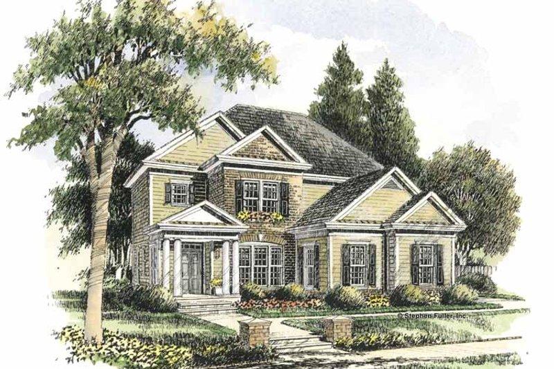 Colonial Exterior - Front Elevation Plan #429-283 - Houseplans.com