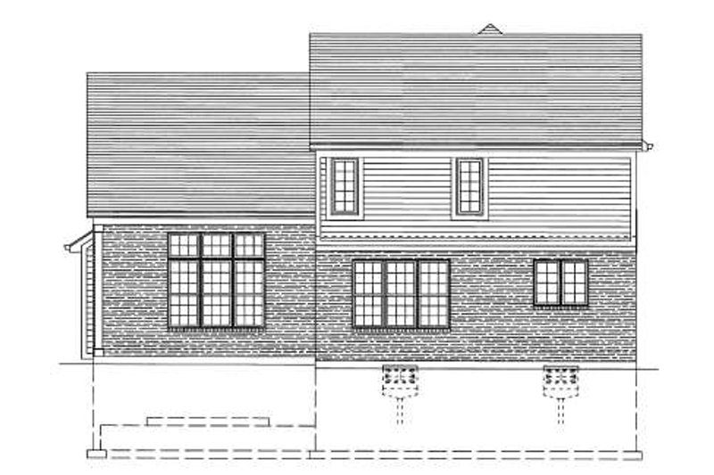 Traditional Exterior - Rear Elevation Plan #46-425 - Houseplans.com