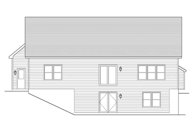 Ranch Exterior - Rear Elevation Plan #1010-98 - Houseplans.com