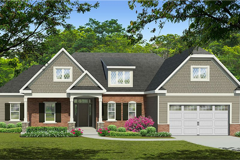 European Exterior - Front Elevation Plan #1010-146 - Houseplans.com