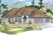 Mediterranean Style House Plan - 3 Beds 3.5 Baths 3231 Sq/Ft Plan #124-713 Exterior - Other Elevation