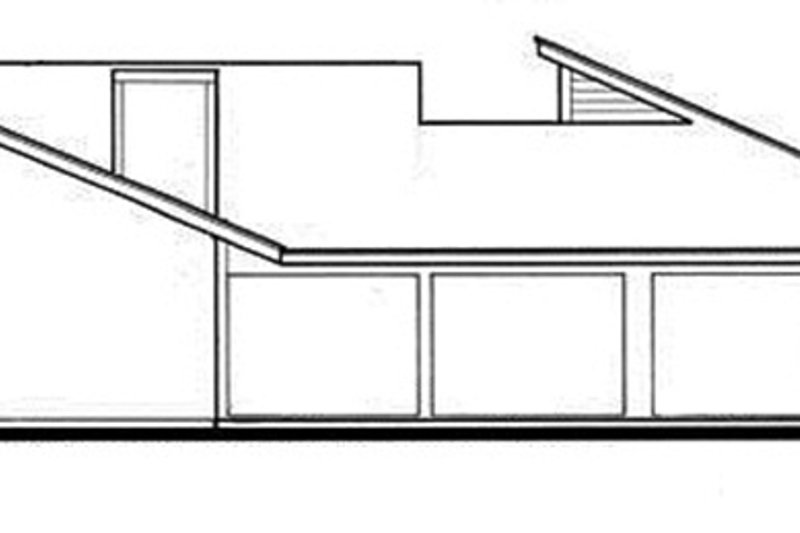Contemporary Exterior - Rear Elevation Plan #30-335 - Houseplans.com