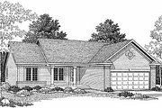 Traditional Style House Plan - 3 Beds 2 Baths 1295 Sq/Ft Plan #70-106 Exterior - Front Elevation