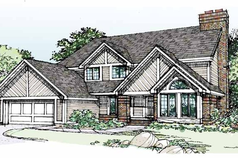 European Exterior - Front Elevation Plan #320-703