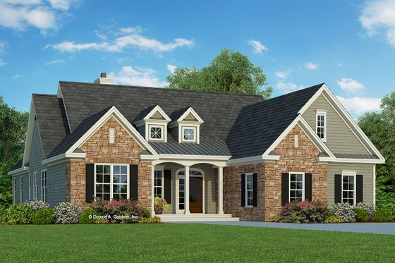 Country Exterior - Front Elevation Plan #929-674