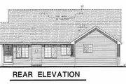 Craftsman Style House Plan - 3 Beds 2 Baths 1236 Sq/Ft Plan #18-1025 Exterior - Rear Elevation