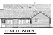 House Plan Design - Craftsman Exterior - Rear Elevation Plan #18-1025