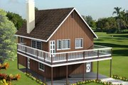 Traditional Style House Plan - 2 Beds 2 Baths 1152 Sq/Ft Plan #1-184 Exterior - Front Elevation