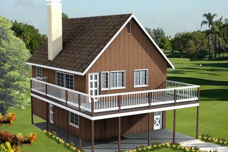 Traditional Style House Plan - 2 Beds 2 Baths 1152 Sq/Ft Plan #1-184