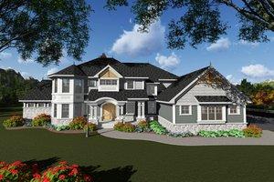 Craftsman Exterior - Front Elevation Plan #70-1295