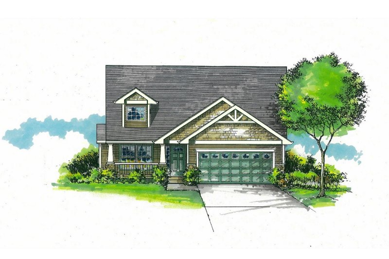 House Plan Design - Craftsman Exterior - Front Elevation Plan #53-588