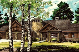 Ranch Exterior - Front Elevation Plan #942-35