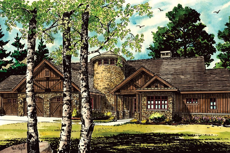 Architectural House Design - Ranch Exterior - Front Elevation Plan #942-35