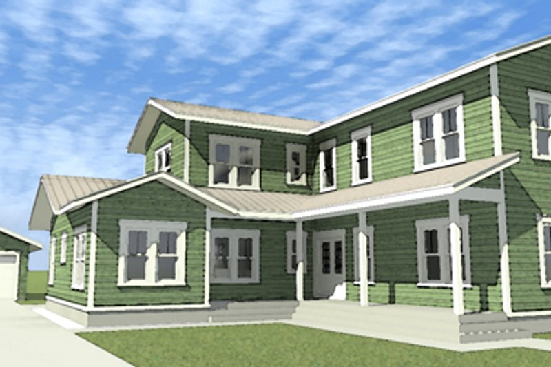 Country Exterior - Front Elevation Plan #64-289 - Houseplans.com