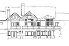 Ranch Exterior - Rear Elevation Plan #942-35