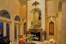 Architectural House Design - Mediterranean Interior - Family Room Plan #930-355