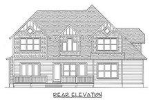 Craftsman Exterior - Rear Elevation Plan #413-138