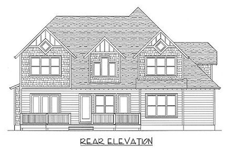 Craftsman Exterior - Rear Elevation Plan #413-138 - Houseplans.com
