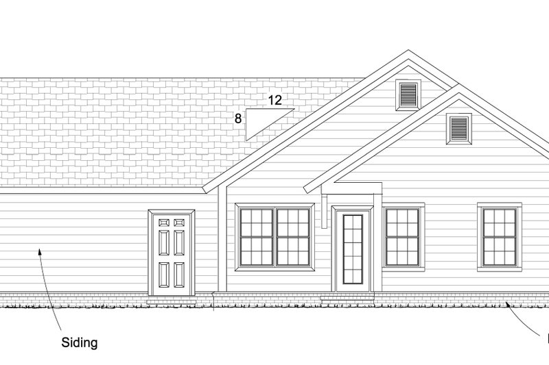 Cottage Exterior - Rear Elevation Plan #513-2093 - Houseplans.com