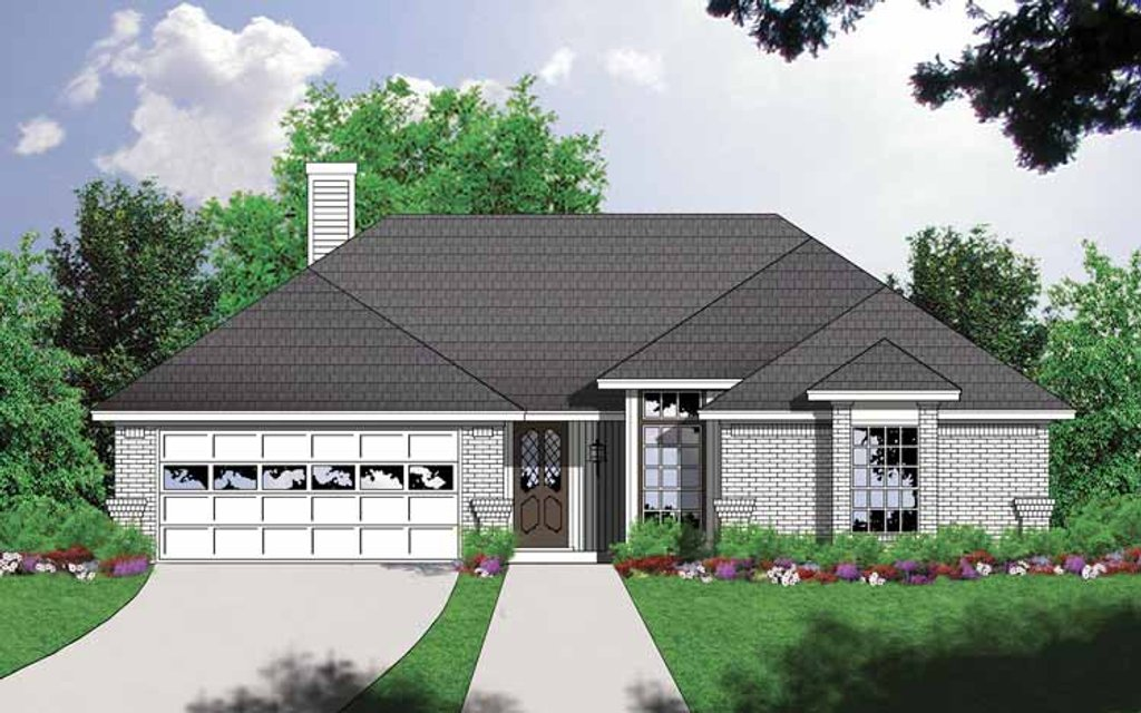 Ranch Style House Plan - 3 Beds 2 Baths 1300 Sq/Ft Plan #40-453 on
