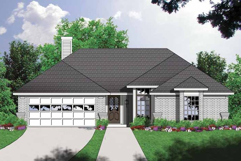 Ranch Exterior - Front Elevation Plan #40-453