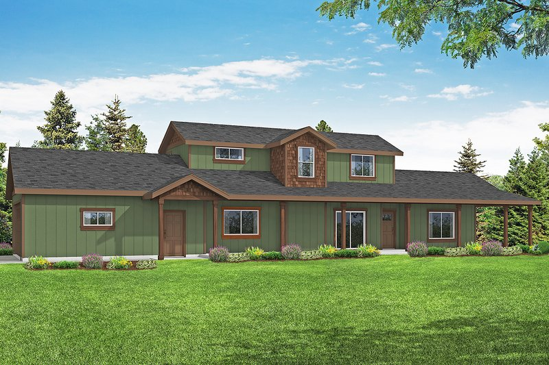 Home Plan - Country Exterior - Front Elevation Plan #124-1185