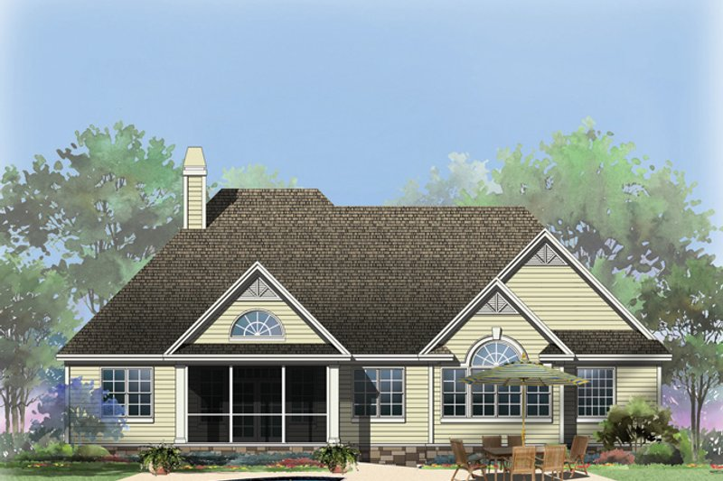 Country Exterior - Rear Elevation Plan #929-940 - Houseplans.com