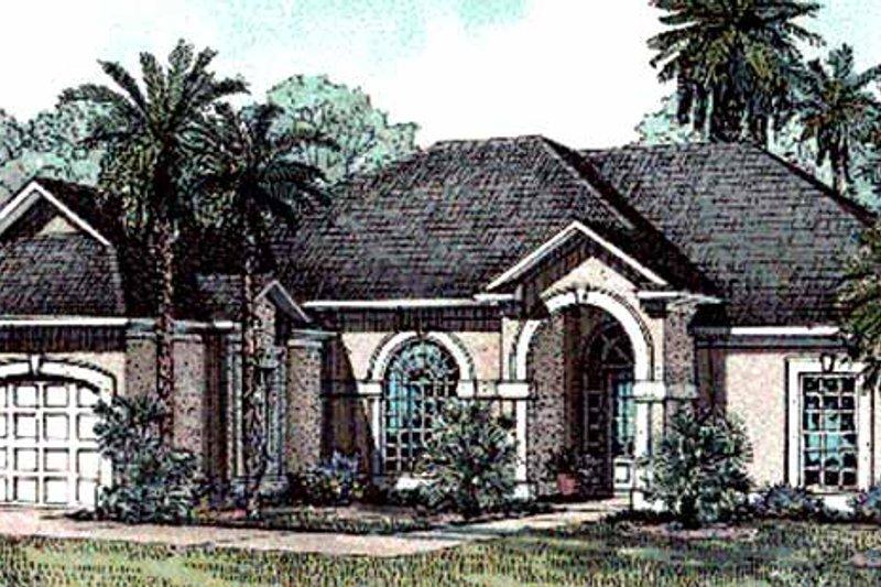 Dream House Plan - Mediterranean Exterior - Front Elevation Plan #17-3203
